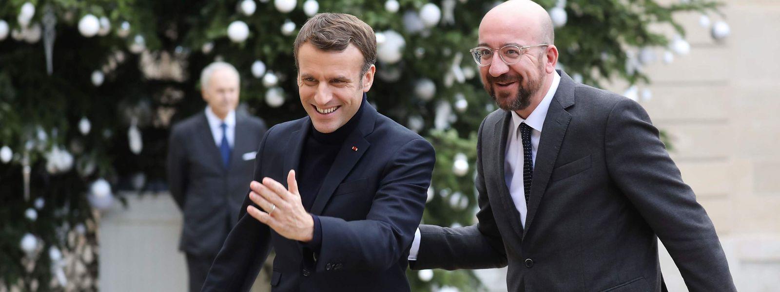 Brüder im Geiste: Der französische Präsident Emmanuel Macron empfing den neuen EU-Ratspräsidenten Charles Michel diese Woche im Élysée-Palast.