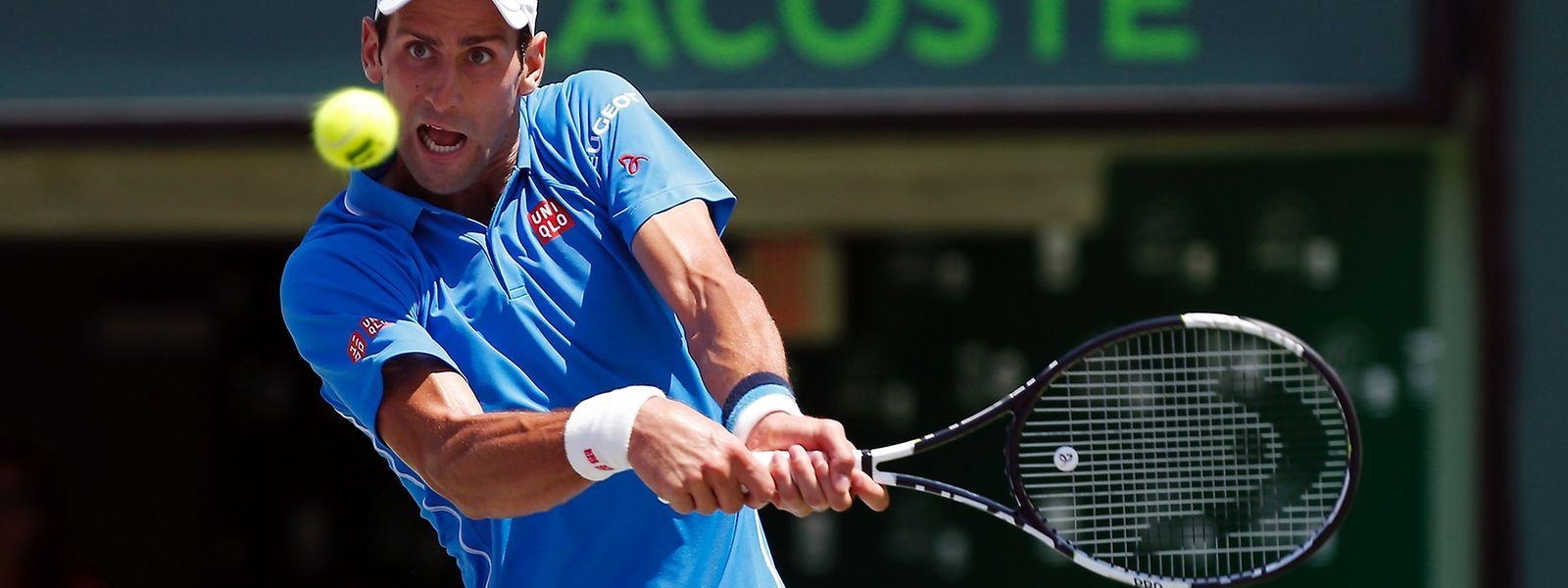 Auf den Hartplätzen dieser Welt fast unantastbar: Der Weltranglistenerste Novak Djokovic.