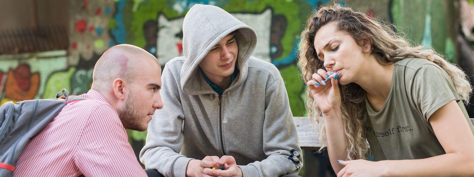 18 Prozent der 15-jährigen Jungen und Mädchen in Luxemburg haben bereits Cannabis konsumiert.