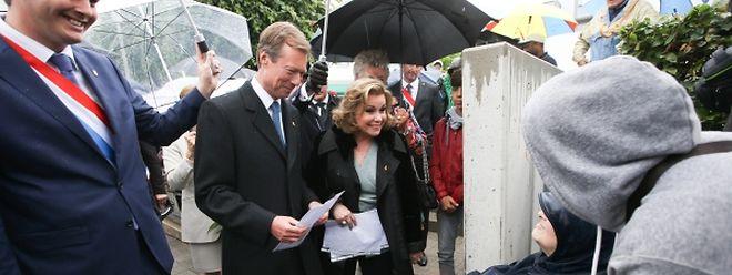 Le couple grand-ducal lundi à Mondorf-les-Bains