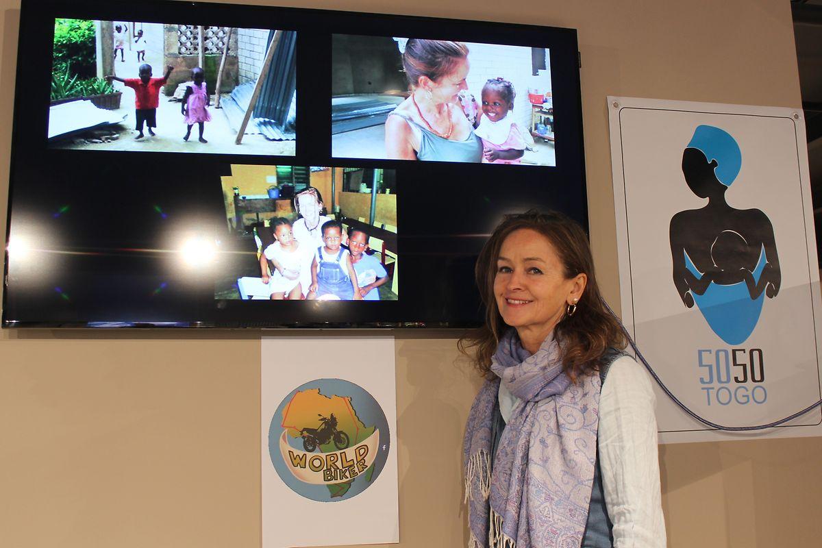 Claire Ballerini, fundadora da associação 'Togo 50-50'.