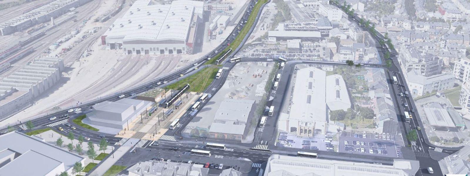 Le tronçon entre la gare centrale et le LTB s'intègre dans une réorganisation profonde du trafic entre la capitale et le sud du pays.