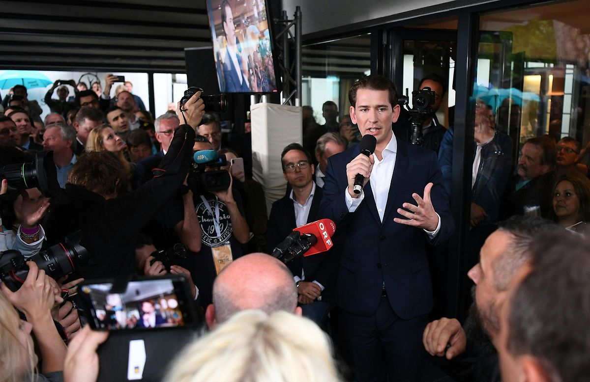 Sebastian Kurz gibt ein Statement in der Politischen Akademie ab. Er hat wenige Stunden nach dem Misstrauensvotum gegen ihn und seine Regierung seine Anhänger auf den anstehenden Wahlkampf eingestimmt.