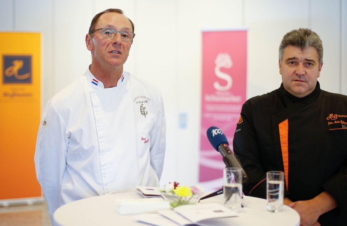 Henri Schumacher und Jean-Marie Hoffmann während der Pressekonferenz in Wormeldingen.