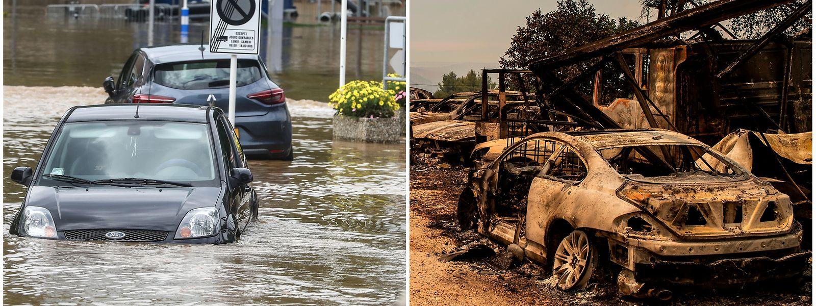 Extremwetterereignisse wie das Sommerhochwasser in Luxemburg, Deutschland und Belgien, oder große Hitze mit Waldbränden wie in Griechenland, werden sich künftig mehren.