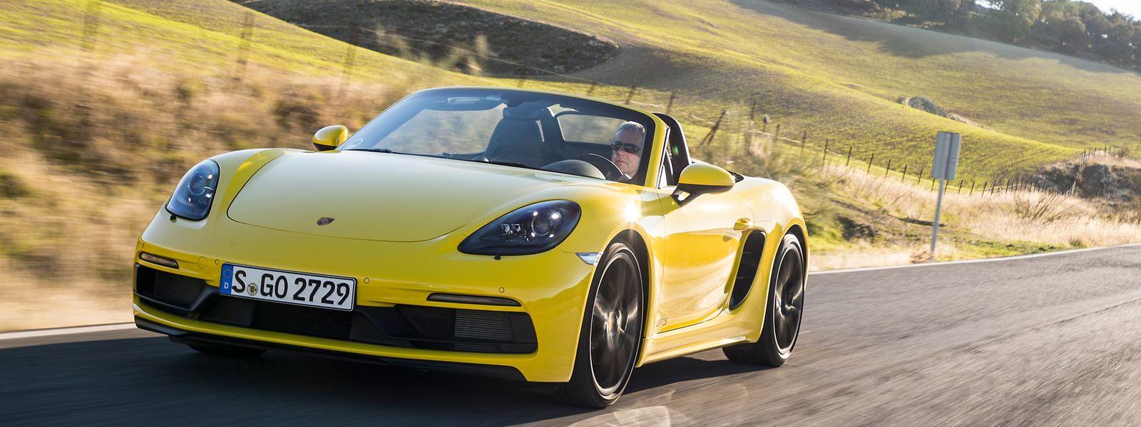 Der Porsche 718 Boxster GTS sprintet wie der 718 Cayman GTS im besten Fall in 4,1 Sekunden von 0 auf 100 km/h.