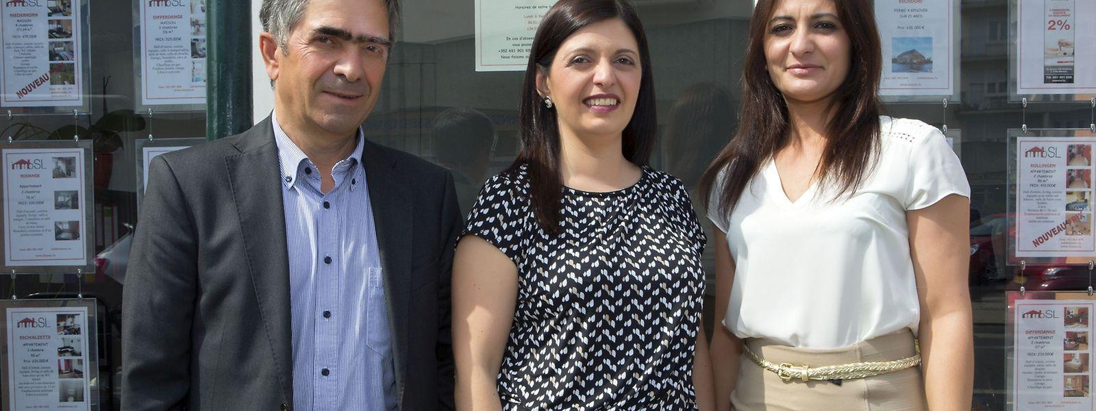 Ernesto Lopes, Sandra Lopes e Sónia Félix, a equipa portuguesa da IMMO SL.