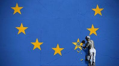 Une oeuvre murale de l'artiste Banksy, à Douvres, en Angleterre.