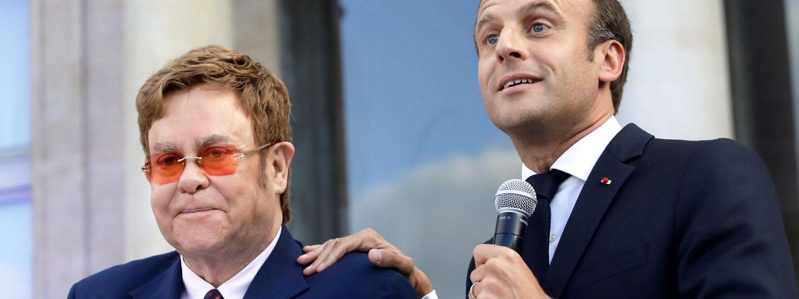 Macron nahm das Treffen mit der Poplegende zum Anlass, um zum Kampf gegen gefährliche Krankheiten wie Aids, Tuberkulose und Malaria aufzurufen.