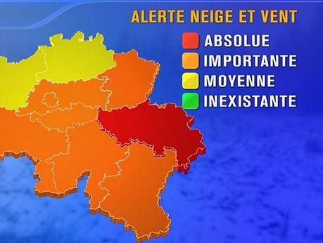 """Eine """"Alerte rouge"""" ist in Belgien eher selten."""