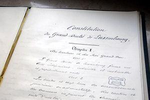 15.1. Staatsarchiv / Konstitution 1868 / Originaldokument / Crise Constitutionelle / Verfassung / Verfassungsaenderungen foto: Guy Jallay