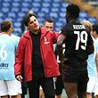 AC Milan's coach from Italy Vincenzo Montella (C) reacts at the end of the Italian Serie A football match Lazio vs AC Milan on September 10, 2017 at the Olympic stadium in Rome.  / AFP PHOTO / Vincenzo PINTO