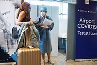 WI,Flughafen Luxemburg,Findel.Covid19 Test im Flughafen,Ankunft.Corona.Luxairport, Foto:Gerry Huberty/Luxemburger Wort