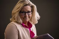 WASHINGTON, DC - JULY 21: U.S. Rep. Liz Cheney (R-WY) leaves the podium after speaking during a news conference with other Republican members of the House of Representatives at the Capitol on July 21, 2020 in Washington, DC.   Samuel Corum/Getty Images/AFP == FOR NEWSPAPERS, INTERNET, TELCOS & TELEVISION USE ONLY ==