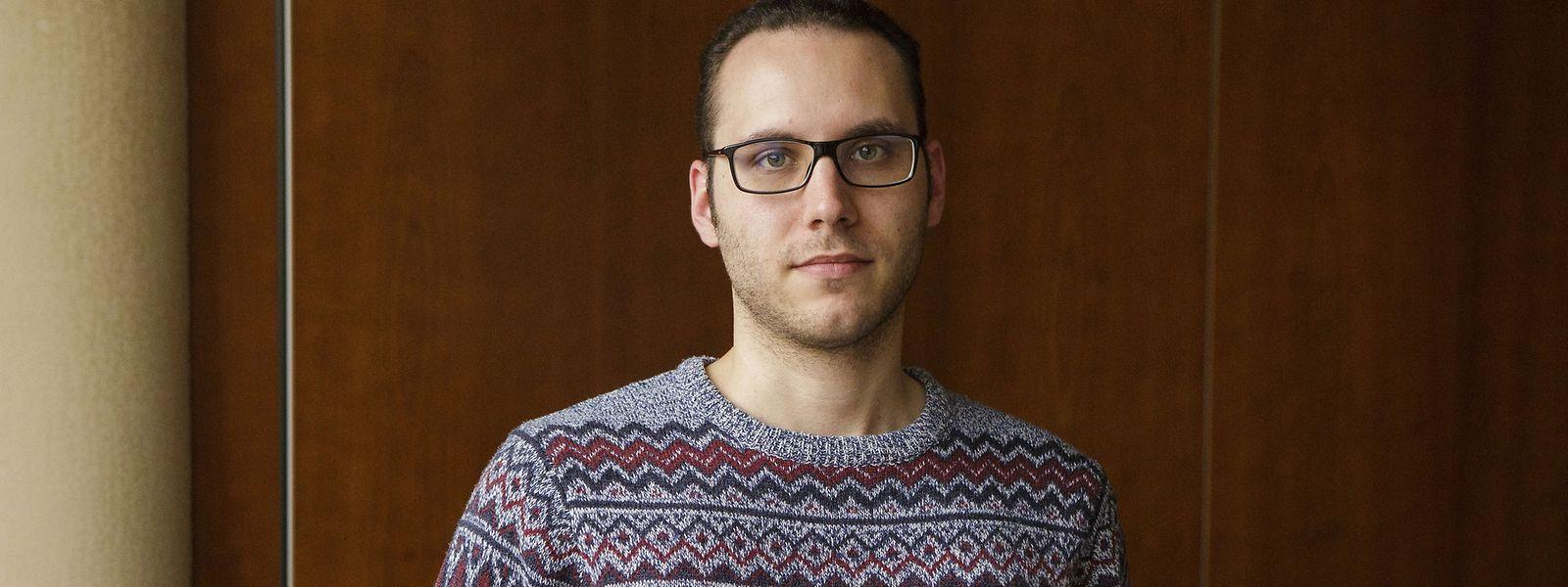 Organisator Jérôme Becker von E-Sports Luxembourg.