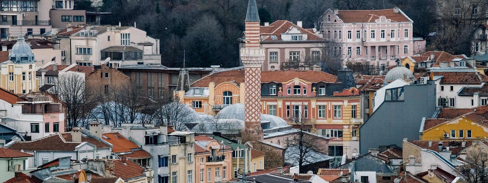 Das Stadtzentrum der bulgarischen Stadt Plowdiw.