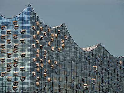 Die Glasfassade besteht aus 1096 Einzelelementen.