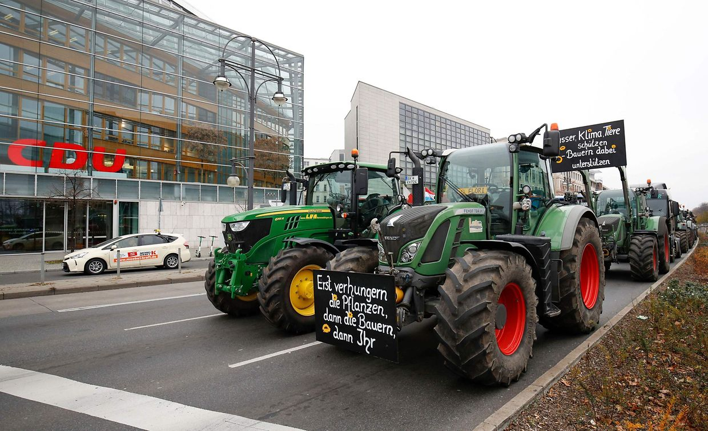 Tausende Landwirte protestieren in Berlin.