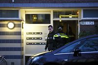 "Dutch police officers carry out an investigation in the Oudenoord neighbourhood of Utrecht, on March 18, 2019, following a shooting on a tram. - Dutch police arrested a Turkish-born suspect on March 18, over a possible terror attack on a tram in the city of Utrecht that left three people dead and five wounded. Dutch authorities said they were still investigating a likely terrorist motive for the attack but said they ""cannot exclude"" other motives, including a family dispute. (Photo by Robin van Lonkhuijsen / various sources / AFP) / Netherlands OUT"