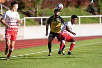 Metin Karayer (Niederkorn l.) gegen Tiago Semedo (Fola r.) / Fussball, Nationaldivision, Fola - Niederkorn / 11.09.2021 / Esch-Alzette / Foto: Christian Kemp