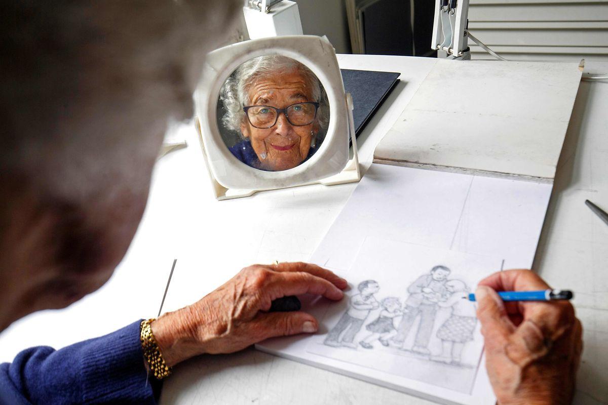 Die in Deutschland geborene Autorin zeichnete ihre eigenen Buchillustrationen - und das bis ins hohe Alter.