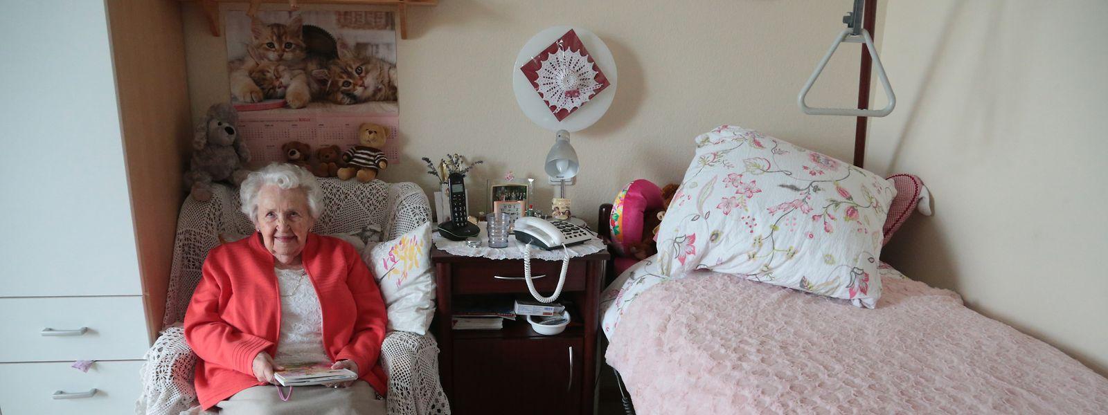 Juliette Wiscourt-Kauffmann  lebt seit acht Jahren im CIPA Gréngewald in Niederanven, wo sie sich sehr wohl fühlt.