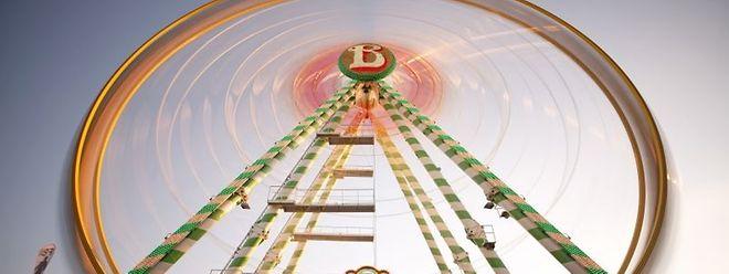 """Das Riesenrad """"Bellevue"""" ist Jahr für Jahr auf der Schobermesse in Luxemburg zu sehen."""