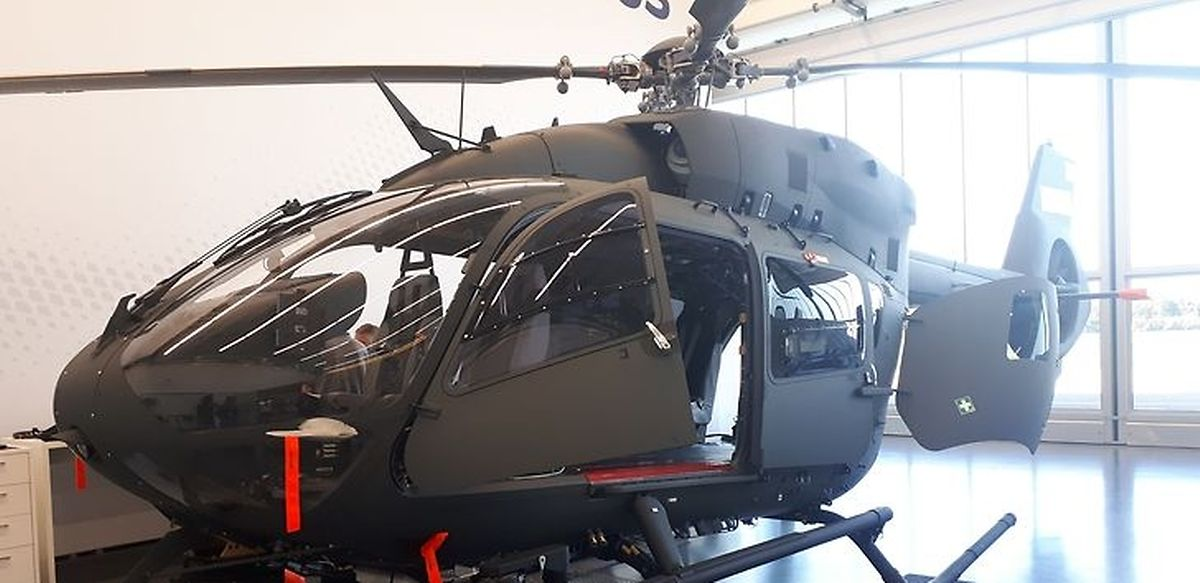 """Vor der Auslieferung und ohne """"Bemalung"""": der Hubschrauber vom Typ H145M."""