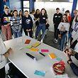Lokales, Geesseknäppchen, Forum, Klimapolitik, Diskussionsrunde der Regierung mit Schülern Foto: Anouk Antony/Luxemburger Wort