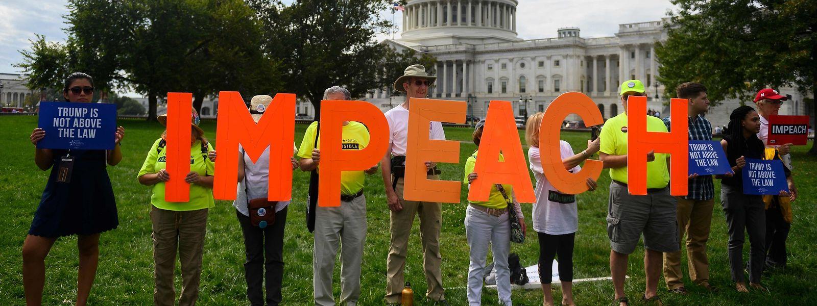 Demonstranten vor dem Kapitol in Washington DC.