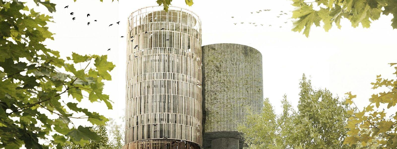 50 Meter hoch soll der Wasserturm werden.