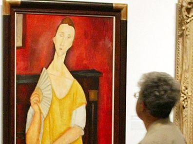 """Eines der gestohlenen Werke ist """"La Femme à l'éventail"""" von Amedeo Modigliani."""