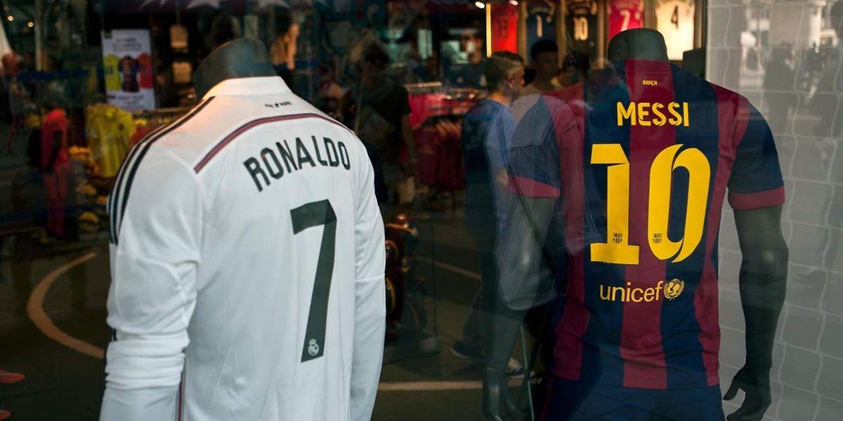 Cristiano Ronaldo et Lionel Messi: ce sont de nombreux buts et neuf Ballon d'Or.
