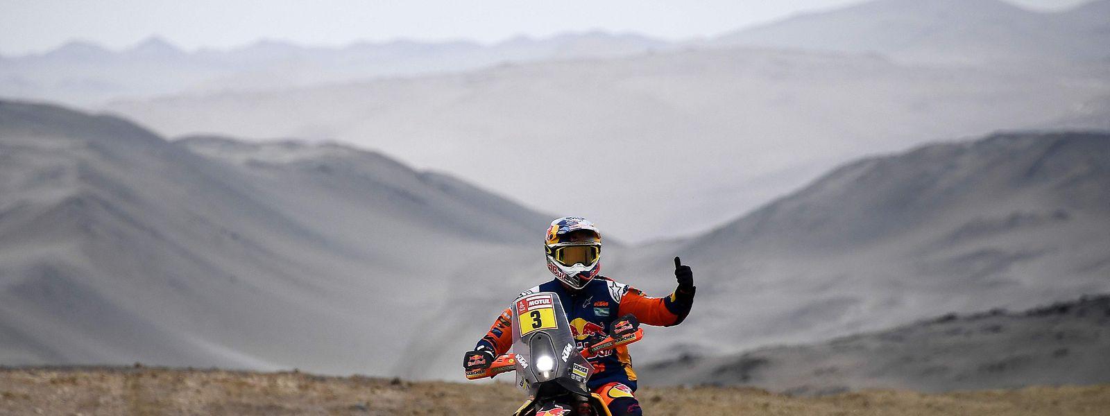 Et de deux pour l'Australien Toby Price, déjà victorieux du Dakar en 2016 en catégorie motos
