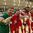 Nuno Silva, Albino Matos, Carlos Trancoso, Davide Chalmandrier et Daniel Vieira savourent la victoire.