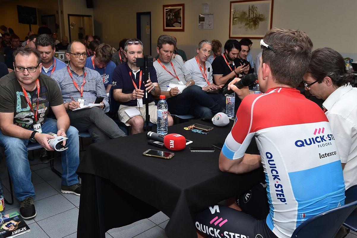 Bob Jungels bei der Pressekonferenz.
