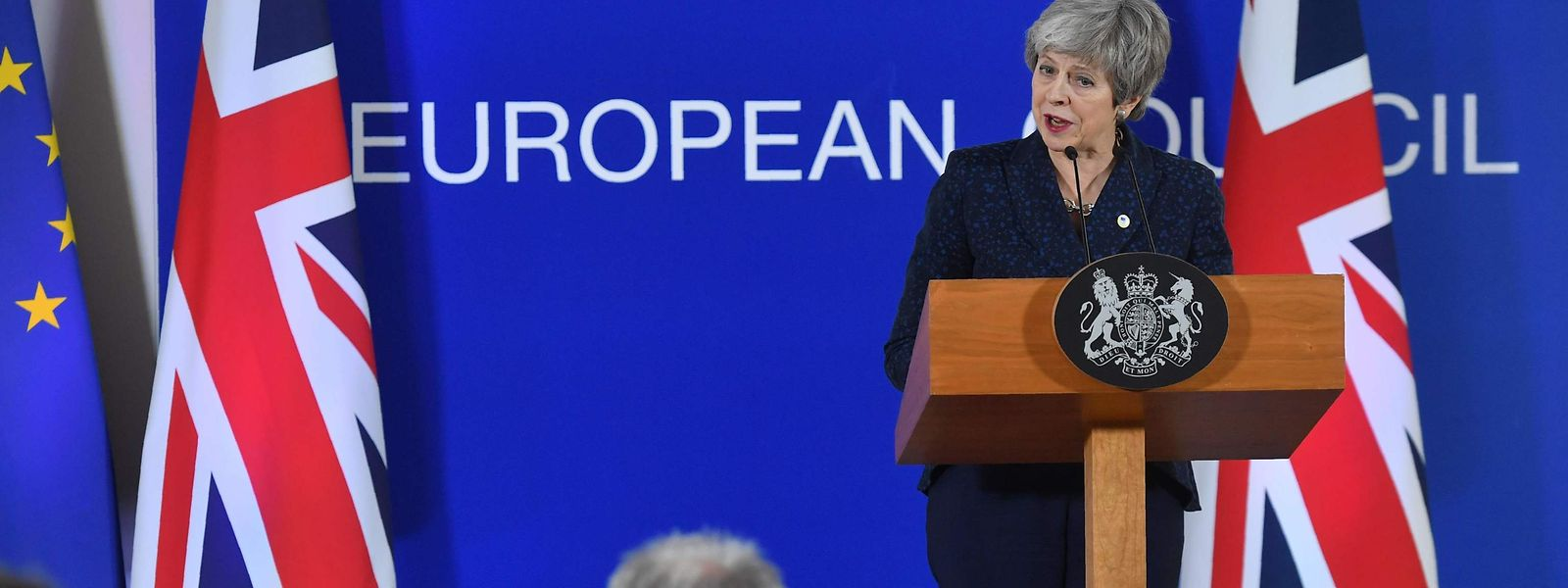 Theresa May in Brüssel.