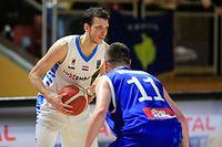 Thomas Grün (Luxemburg - 8) / Basketball 2023 FIBA World Cup - Basketball Weltmeisterschaft 2023 Vorqualifikation, 1. Runde, Gruppe B, 2. Spieltag Herren / 23.02.2020 / Luxemburg - Kosovo / Centre National Sportif et Culturel d'Coque - Gymnase / Foto: Yann Hellers