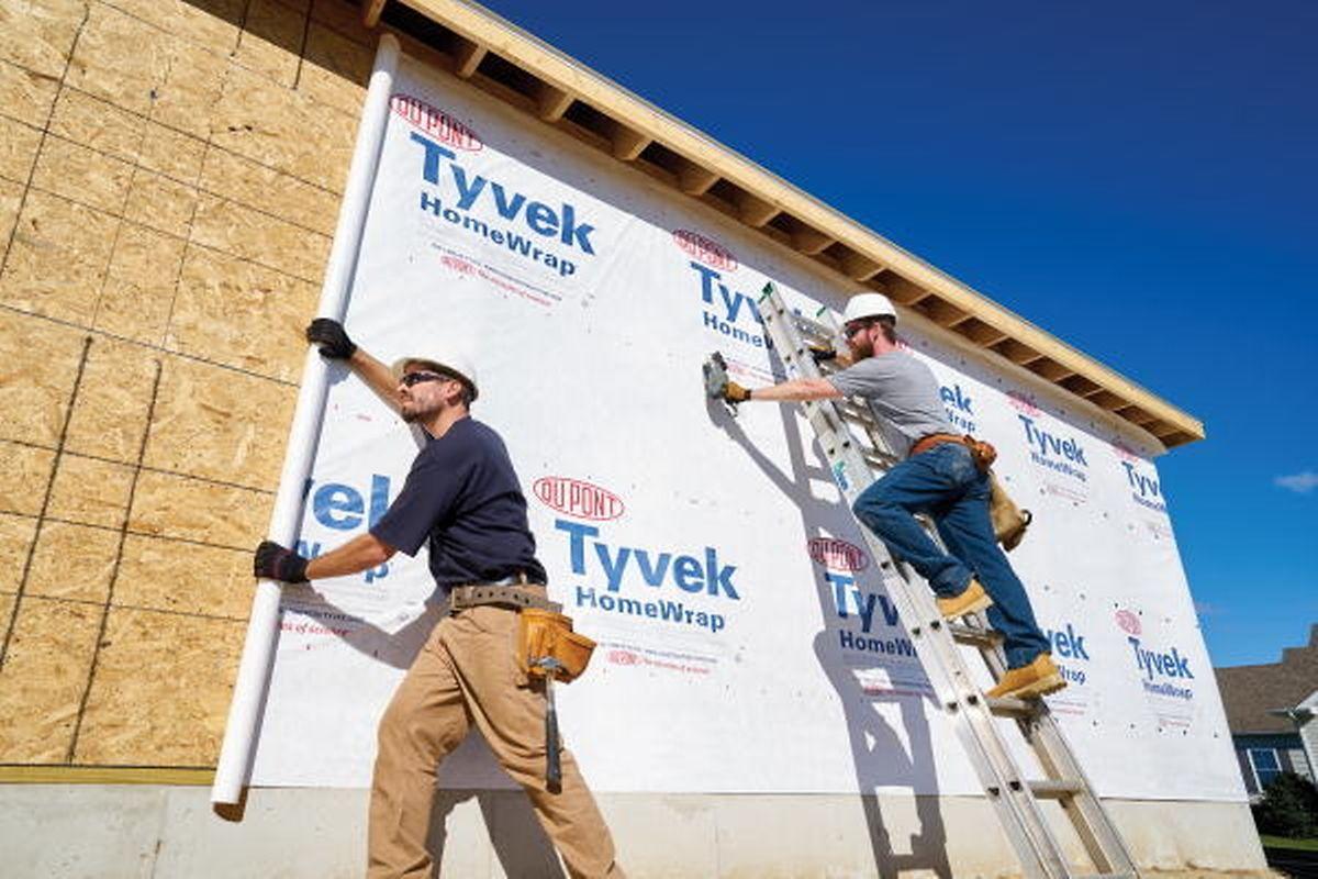 Le Tyvek est beaucoup utilisé dans le secteur de la construction comme matériau isolant