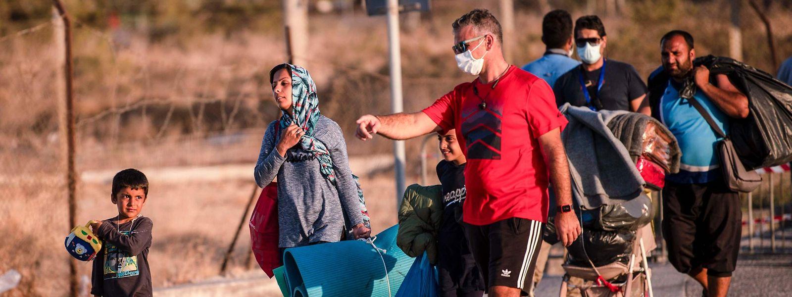 Mehr als 12.000 Geflüchtete sind nach dem Brand des Camps Moria auf Lesbos obdachlos geworden.