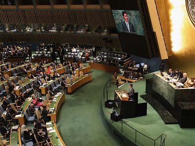 Der kanadische Premier Justin Trudeau vor der Uno-Vollversammlung in New York.