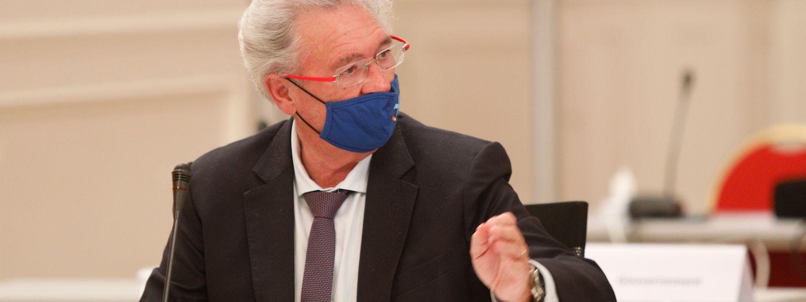 Außenminister Jean Asselborn während einer Debatte im luxemburgischen Parlament.
