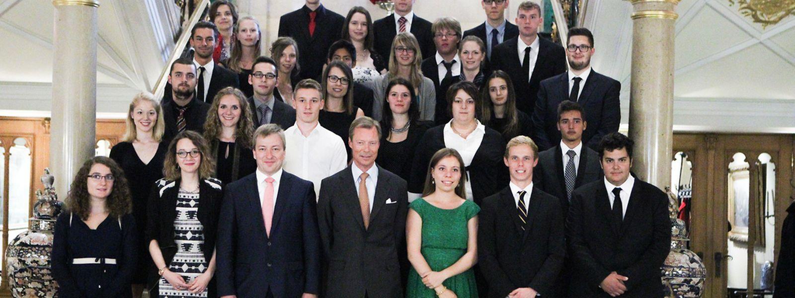 Großherzog Henri empfängt die Abiturienten mit Bestnoten im Palais.