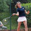 01 Tennis Interclub Meisterschaft der Frauen in Howald zwischen Howald und Arquebusiers am 23.05.2015 Eleonora Molinaro (Arquebusiers)