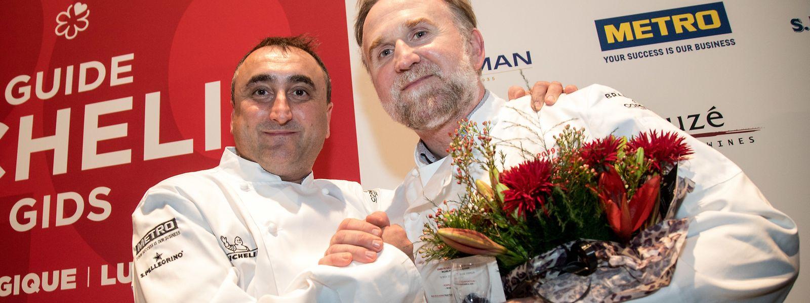 Christophe Quentin, à gauche, a reçu sa première étoile, et Cyril Molard, à droite, une deuxième.