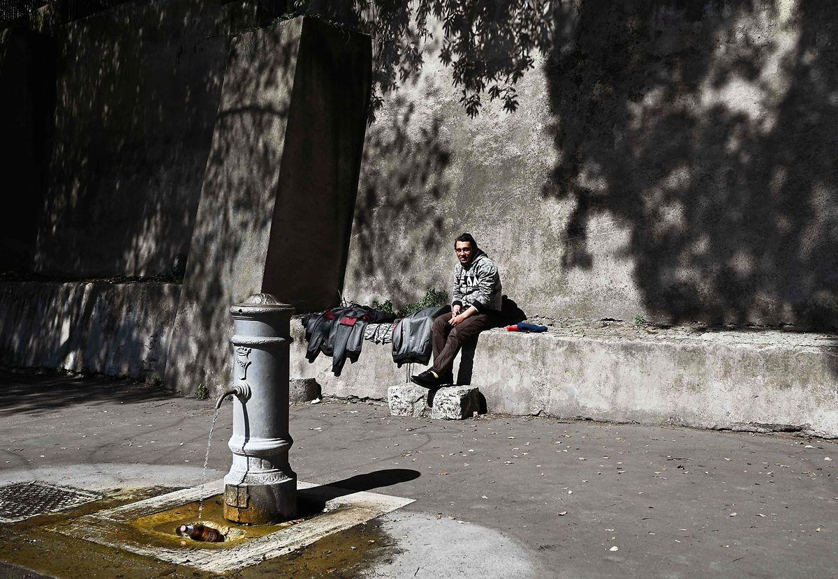 Obdachloser in Rom.