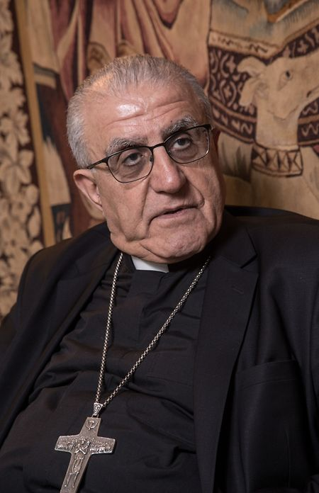 """Mgr Yousif Thomas Mirkis, l'archevêque chaldéen de Kirkouk et Suleimanieh en Irak. Son point de vue: la citoyenneté irakienne doit priver sur l'appartenance confessionelle. """"Avant de me revendiquer comme chrétien, comme sunnite, chiite ou kurde, je veux me définir comme Irakien."""""""
