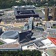 A nova sede da ArcelorMittal vai ser construída na área marcada a vermelho