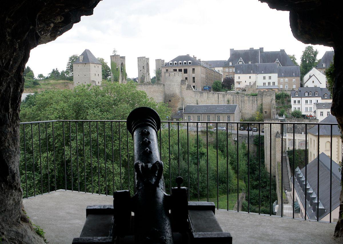 50 Kanonen waren zur Befestigung im Bockfelsen installiert.