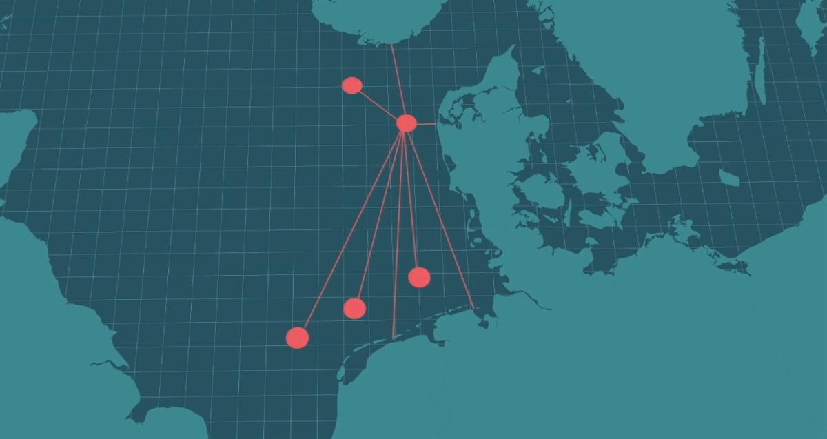 Die künstliche Insel vor Dänemark soll den Strom zu anderen Punkten und in andere Länder weiterleiten.